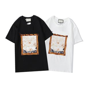 2020 Custom men's wear 100% cotton T-shirt, new fashion style, large size personalized printing requirement T-shirt with own design M-XXXL