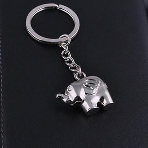 80pcs / 많은 사랑 아연 합금 코끼리 키 체인 결혼식 파티 문 선물, 아기 세례 세례 호의