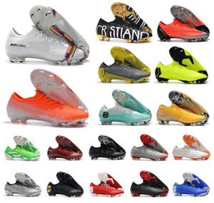 Горячие Мужчины Ртутные Пары Ярости VII XII Elite FG 12 Superfly VI 6 360 CR7 NJR Низкие Neymar Женщины Дети Футбол Футбол Обувь Размер 35-45