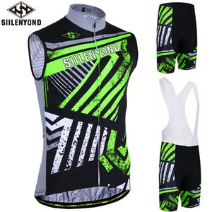 Siilenyond 2020 Pro Sleeveless Cycling Jersey Set Summer Racing Bike Cycling Clothing Suit Men Mountain Bicycle Tigers