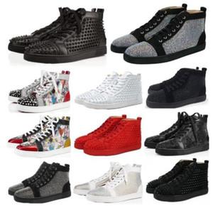 Designs Scarpe Spike Junior polpaccio Low Cut Mix 20 di fondo scarpe da sposa di lusso della scarpa da tennis rossa del partito genuini Spikes Pelle Calzature Casual SIZE36-46