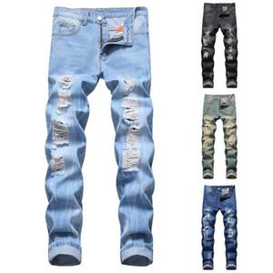 Heiße Art und Weise zerrissene Loch-Jeans Männer aushöhlen Beggar geerntete Motorrad-Radfahrer-Hosen der Männer Cowboys Demin Hosen