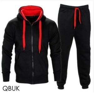 Thefound 2019 New Mens Treino Jogging Superior Inferior Esporte Sweat Suit Brasão Calças Pant Set Hoodie