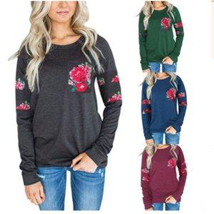 Trendy2019 Boyun Yuvarlak Bölünmüş Ortak Çiçek Renk T Yazık Bölünmüş Ortak Cep Kazak Kazak Ceket