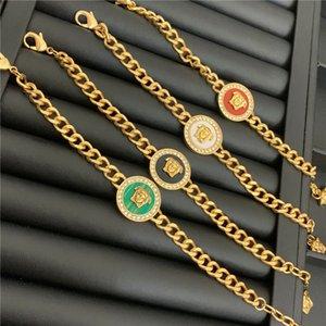 Head Maze Diamond Bracelet Chain Designer Bracelets Women Brand Bangles Charm Bracelets Gift For Party Anniversary