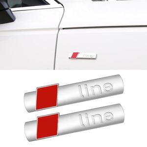 Auto Car Accessories Side Badge Emblem 3D Sticker Trim Chrome Pad Exterior Decoration for Audi A3 A4 A5 A6 Q2 Q3 Q5 Q7 Q8 S4 S5