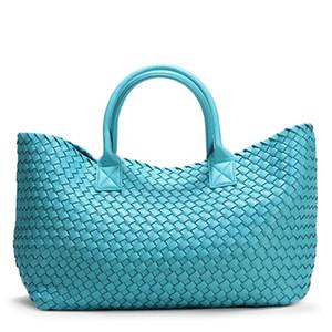 Дизайнер-2019 бренд дизайн тканые сумки для женщин тюки мода прилив Weave рука плечо Леди большой емкости кошелек корзина сумка