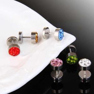 Acero inoxidable Pendientes con mancuernas pendientes de diamantes aretes desinger joyería de moda para hombres, mujeres regalo