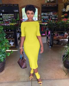 Kadın Yaz Katı Renk Elbise Seksi Bayanlar Slash Boyun Backless Elbiseler Moda Tasarımcısı İnce Panelli Bölünmüş Kadın Giyim