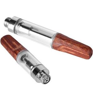 10 Pcs Dabwoods TH205 Vape Pen Cartuchos de madeira 0,5 ml Drip Tip 0,8 mL Esvaziar Ceramic Bobina Grosso Oil atomizadores 510 Tópico vaporizador Dab madeiras