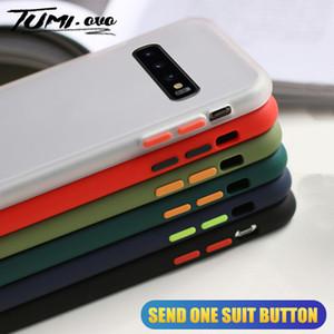 Matte silicone à prova de choque Bumper telefone capa para Samsung Galaxy Note 10 S20 Ultra S10 S9 S8 Além disso A51 A71 A50 A70 Tampa
