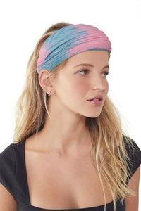 Kadınlar Kafa Tie boyama Spor Pamuk Ter Kafa bandı Kafa Bayanlar Spor Yoga Kafa bandı için Gym Stretch Kafa Saç Bandı