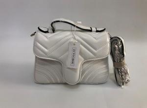 Borsa a tracolla delle donne di alta qualità Borsa a tracolla in pelle PU e sacchetto della catena della catena del slittato della borsa del messenger borsa della borsa della catena del crossbody 21cm