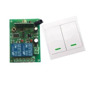 Rádio Digital Controle Remoto Switch DC12V 2CH Receiver + Muro de Alimentação do transmissor Wireless Switch 315MHZ controlada interruptor do relé