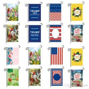 hot 30 x 45 cm Double sided Banner Flags Trump Garden Flagsoutdoor decorate Chunya Textile American garden flag Easter flag T2I5208
