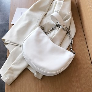 Solid Color Simple Small Armpit Bag PU Leather Shoulder Bags for Women 2020 Summer Travel Crossbody Handbags Cross Body Bag