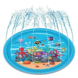 Juguete del cojín del juego del agua niños del animal salvaje verano inflable Espolvorear Splash Mat