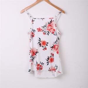 Pregnant Womens Maternity Breastfeeding Tanks 2017 Women Floral Print Top Clothes Fashion Bebes Pregnant Breastfeeding T-shirts