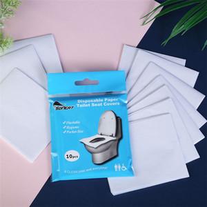 suda çözünür tek tuvalet koltuk minderi kağıdı 10 dilim paketi portatif tuvalet pedi tek kullanımlık klozet kağıdı T9I00339