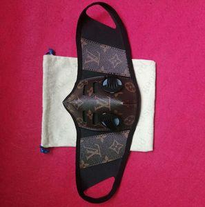 Роскошный PU Лицевые маски с два сапуна клапана Женщины Мужчины Половина лица анти пыли Haze Маски конструктора Cosplay партии маска на открытом воздухе на велосипеде maskE51303