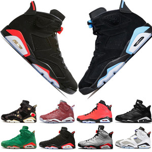 Cheap New 2019 Bred VI 6 6s Mens Basketball Shoes Infrared 23 3M Reflective Tinker Slam Dunk CNY Wheat Men Sports Sneakers Designer Trainers