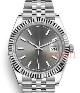 Luxury silver Mens Watch 2813 Mechanical Automatic Movement 41mm Stainless Steel Fashion Men Date Just Designer Men's Watches Wristwatches