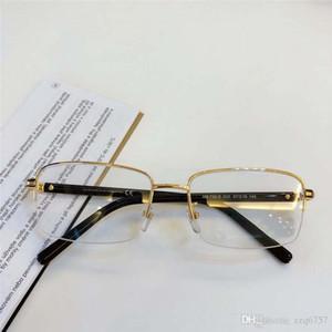 Оптовая продажа новых модных дизайнерских оптических очков 738 ретро металлическая половина рамки прозрачный объектив винтажный классический прозрачный очки