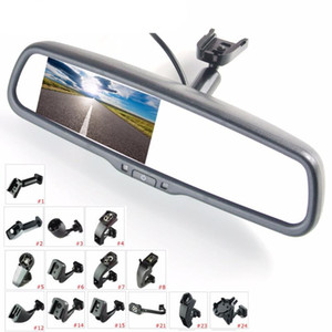 """4.3"""" TFT LCD rear view mirror car monitor video input 2Ch with special bracket parking visible reverse sensor aid system"""