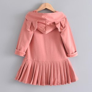 Baby Girls Cute Dresses New Autumn Girls Ear Dress Hooded Outfits Lovely Kids Spring Clothes Clothing 2 6YdBRW#