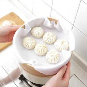 Yeni Yeniden kullanılabilir Doğal Pamuk Steamer Kumaş Ekmek Bun Pişirme Mats Gömlekleri Mutfak Bakeware Steamer Bez Araçları yq01451