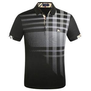 Новый роскошный дизайн рубашки поло мужчин Повседневный Polos Мода Письмо печати Вышивка T Shirt High Street Mens хлопка Polos M-3XL