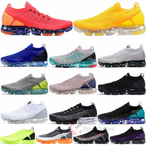 Nike Air Max Vapormax Nueva 2.0 Fly 3,0 de punto Formadores Gris humo Negro metálico hombre blancas Rosa Rust los zapatos corrientes de las zapatillas de deporte de las mujeres