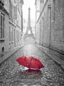 Eiffelturm Paris Straße Vinyl Fotografie Kulissen Roten Regenschirm Photo Booth Hintergründe für Romantische Hochzeit Studio Requisiten