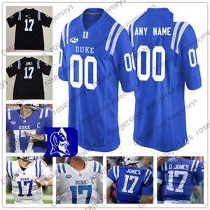 Custom Duke Blue Devils Футбол Любое Имя Номер Королевский Черный Белый # 17 Даниэль Джонс 87 Макс МакКаффри 3 Джемисон Краудер 2019 Джерси NCAA