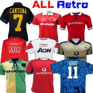 maglia per adulto Retro SOCCER Jersey 2011 2012 home Centenary 92 94 BECKHAM 98 99 RONALDO 20 02 04 07 08 100 United Retro Football shirt