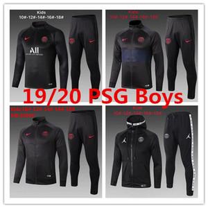 19 20 PSG çocuklar ceket Verratti Silva çocuk eşofman futbol forması tren MBAPPE Paris Alves erkek CAVANI çocuklar Icardi eğitim gömlek kitleri
