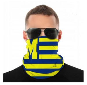 Michigan Wolverines Seamless Bandana Face Mask Dust Wind UV Sun Neck Gaiter Tube Mask Headwear Motorcycle Cycling Riding Running Headbands