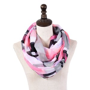 Moda Pink Plaid New Chiffon Mulheres Baixada Scarf Feminino Longo Lenços Para Anel Primavera-Verão Neck Xailes Acessórios Ladies