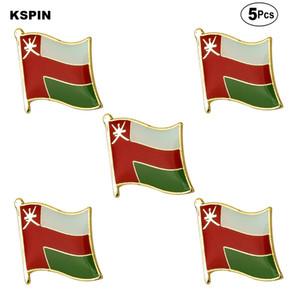 Oman Flag Spille risvolto perno della bandierina spilla distintivo Pins Badge 5pcs un lotto