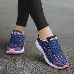 Comfortable Sneakers Women Fashion Mesh Round Cross Straps Flat Sneakers Running Shoes Casual Shoes Feminino #H