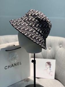 Neuer Designer Baumwolle Luxus Brief Wannen-Hut unisex faltbare Kappen-Fischen-Jagd-Fischer-Strand-Sonnenblende Verkaufs-faltender Mann Werferhut