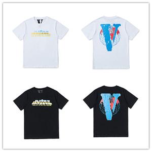 Summer couple luxury designer tshirt mens womens designer hip hop mens vlone t shirt Size