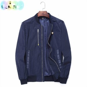 2020 spring and summer new men's casual jacket windbreaker fashion trend high-end long-sleeved jacket men 0212