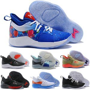New High Qaulitys Paul George 2 PG II Kids Basketball Shoes for Cheap top PG2 2S Starry Blue Orange All White Black Sports Sneakers
