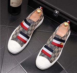Роскошные Мужчины Мокасины ручной работы итальянский дизайнер Металл Письмо Пряжка скольжению на лодке обувь Повседневная Холст обувь Платье обувь для мужской 38-44