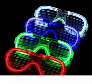 A Fashion LED Light Glasses Flashing Shutters Shape Glasses LED Flash Glasses Sunglasses Dances Party Supplies Festival Decoration