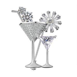 Cherry Martini Glass Cocktail Party Brosche Frauen Schmuck Sommerzeit