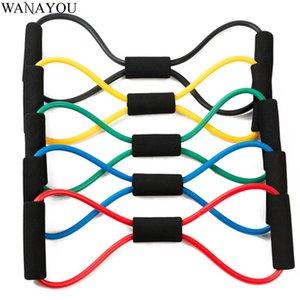 Bande di resistenza Developer toracque a otto caratteri, elastico per la formazione del muscolo, ginnastica fitness body yoga per metropolitana