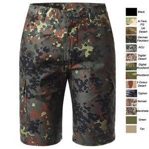 Woodland aire libre Caza Disparos traje de campaña uniforme táctico del Ejército BDU combate Ropa Pantalones de secado rápido de los cortocircuitos del camuflaje NO05-011