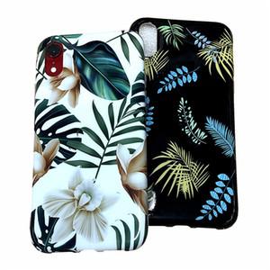 Цветы Leaf Мягкий чехол для телефона ТПУ для iphone XS Max Чехол для телефона для iphone X XR 6 S 7 8 Plus IMD